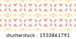 seamless mexican pattern. red...   Shutterstock . vector #1533861791
