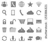 communication icons on white... | Shutterstock .eps vector #153386321