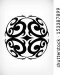 japanese tribal pattern | Shutterstock .eps vector #153387899
