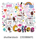 coffee fun cartoon illustration