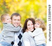 happy family having fun...   Shutterstock . vector #153389969