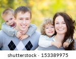 happy family having fun... | Shutterstock . vector #153389975