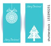 set holiday banners with... | Shutterstock .eps vector #153390251