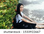 Cute girl on thai university...