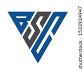 initial letter bsc triangle... | Shutterstock .eps vector #1533924947