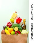 Full Paper Bag Of Healthy Food...