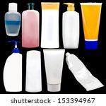 cosmetics soap and gel... | Shutterstock . vector #153394967