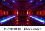 Futuristic Space Hangar Tunnel...