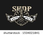 auto parts store  car logo... | Shutterstock . vector #1534021841