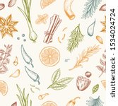 vector seamless pattern with... | Shutterstock .eps vector #1534024724