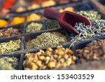 close up of different spices... | Shutterstock . vector #153403529