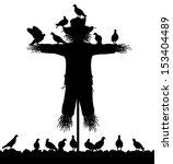 editable vector silhouette of a ... | Shutterstock .eps vector #153404489