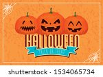 poster of happy halloween with... | Shutterstock .eps vector #1534065734