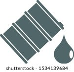 barrel with oil icon. vector... | Shutterstock .eps vector #1534139684