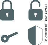 security icon set. vector... | Shutterstock .eps vector #1534139687