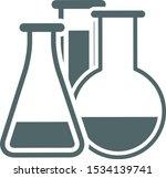 test tube icon. vector... | Shutterstock .eps vector #1534139741
