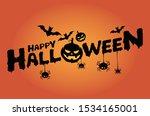happy halloween lettering... | Shutterstock .eps vector #1534165001