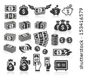 Set Of Money Icons. Vector...