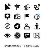 set web icons. location ... | Shutterstock .eps vector #153418607