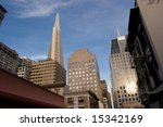 Financial District is a neighborhood in San Francisco, California that serves as its main central business district. - stock photo