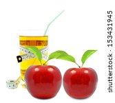 apple juice and meter | Shutterstock . vector #153431945