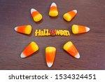 halloween letters in candy corn ... | Shutterstock . vector #1534324451