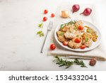 fried pork chops with tomatoes... | Shutterstock . vector #1534332041