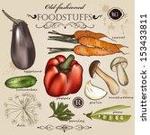 vector set of detailed... | Shutterstock .eps vector #153433811