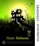 halloween poster  | Shutterstock .eps vector #153433985