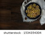 Group Of Dried Citrus Rounds On ...