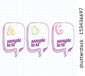 doodle sketch design template   ... | Shutterstock .eps vector #153436697