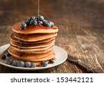 Stack Of Pancakes With Fresh...