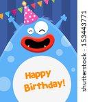 big birthday monster | Shutterstock .eps vector #153443771