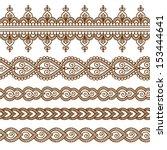 ornamental seamless borders.... | Shutterstock .eps vector #153444641