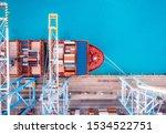 Cargo Ship Loading Trading Port ...