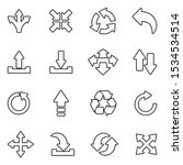arrows icons. line with fill...