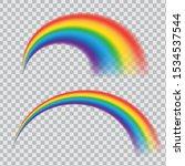 realistic rainbow icon.... | Shutterstock .eps vector #1534537544