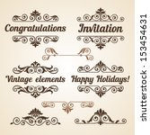 set of vintage ornate frames... | Shutterstock .eps vector #153454631