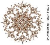 ornamental flowers. vector set... | Shutterstock .eps vector #153454679