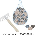 illustration of clam digging ...   Shutterstock .eps vector #1534557791