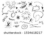 vector hand drawn collection of ... | Shutterstock .eps vector #1534618217