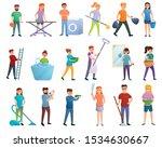 housekeeping icons set. cartoon ... | Shutterstock .eps vector #1534630667