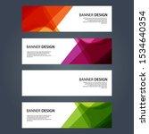 vector abstract design banner... | Shutterstock .eps vector #1534640354