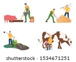 farming illustration set....
