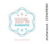 100  guaranteed label  ... | Shutterstock .eps vector #1534698584