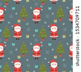 santa claus and christmass... | Shutterstock .eps vector #1534709711