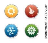 vector season symbols in... | Shutterstock .eps vector #153477089