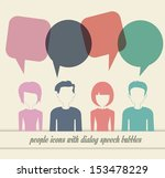 people icons with dialog speech ... | Shutterstock . vector #153478229