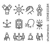 set of business icons   vector... | Shutterstock .eps vector #1534810184