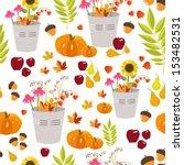 pattern autumn flower | Shutterstock .eps vector #153482531